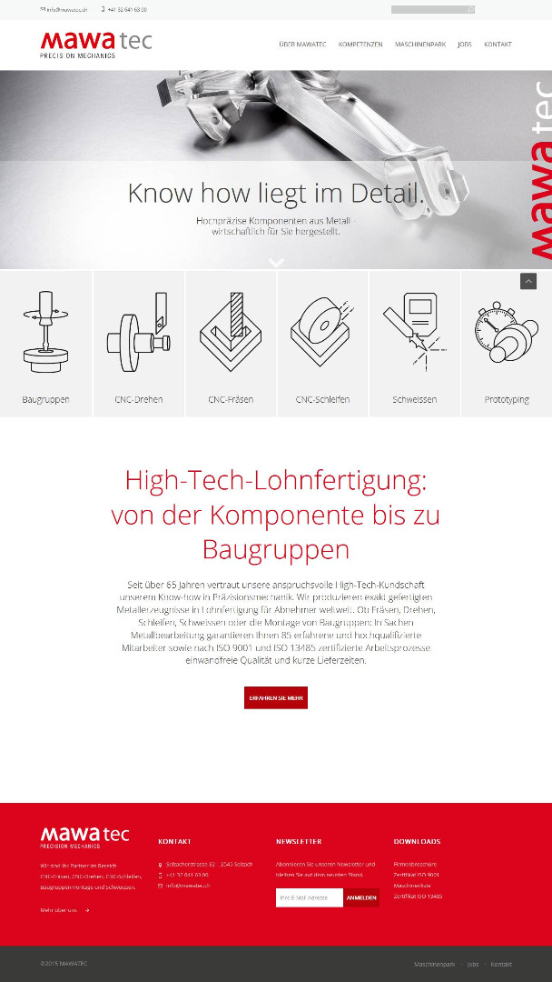 Mawatec-Website in frischem Glanz